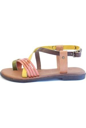 Shop And Shoes 155-102 Kadın Sandalet Multi