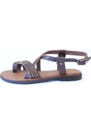 Shop And Shoes 155-102 Kadın Sandalet Kahve