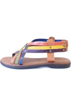Shop And Shoes 155-103 Kadın Sandalet Multi