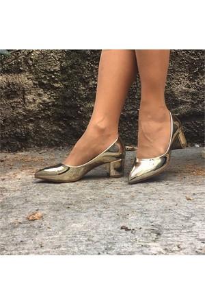 Shop And Shoes 155-150 Kadın Ayakkabı Altın