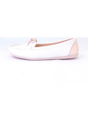 Shop And Shoes 155-2403 Kadın Ayakkabı Beyaz Pudra