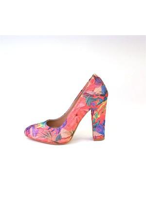 Shop And Shoes 155-500 Kadın Ayakkabı Pembe Kırışık