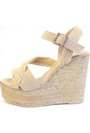 Shop And Shoes 155-521 Kadın Ayakkabı Bej Süet