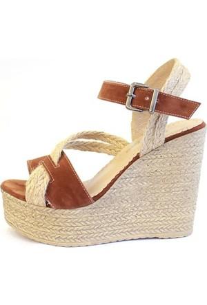 Shop And Shoes 155-521 Kadın Ayakkabı Taba Süet