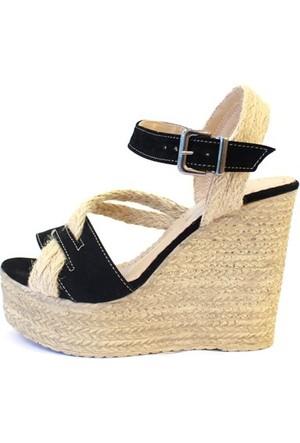 Shop And Shoes 155-521 Kadın Ayakkabı Siyah Süet