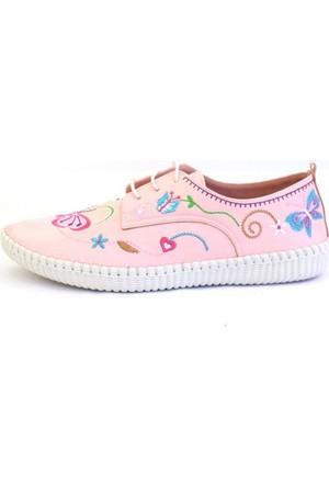 Shop And Shoes 155-540 Kadın Ayakkabı Pudra