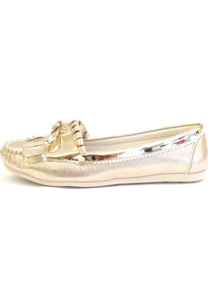 Shop And Shoes 155-786 Kadın Babet Altın