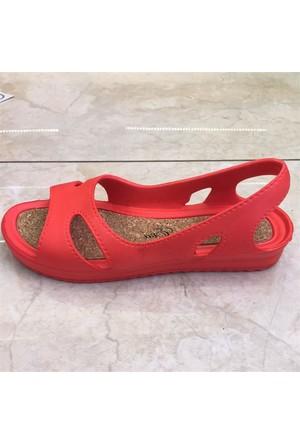 Shop And Shoes 155-M1903 Kadın Sandalet Kırmızı