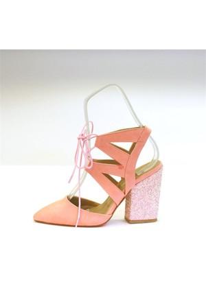 Shop And Shoes 164-999 Kadın Ayakkabı Yavruağzı Süet