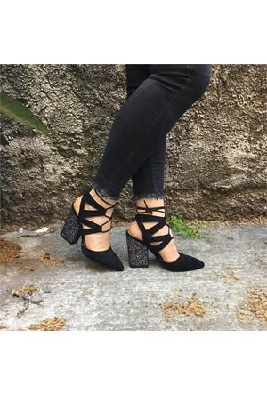 Shop And Shoes 164-999 Kadın Ayakkabı Siyah Süet