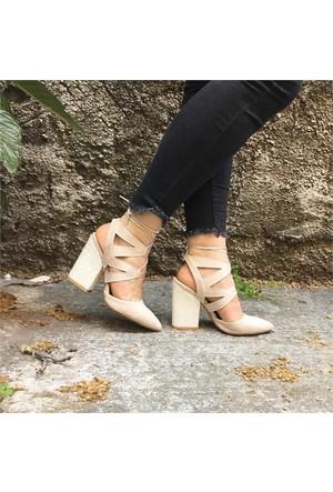 Shop And Shoes 164-999 Kadın Ayakkabı Bej Süet