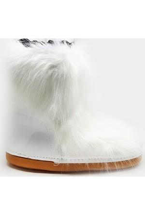 Shop And Shoes 166-1506 Kadın Bot Beyaz
