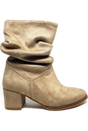 Shop And Shoes 172-650 Kadın Bot Bej Süet
