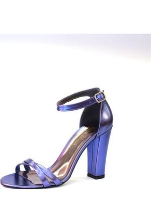 Shop And Shoes 173-021530-1 Kadın Ayakkabı Saks Ayna