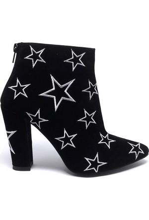 Shop And Shoes 173-04087 Kadın Bot Siyahbeyaz