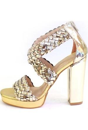 Shop And Shoes 173-0507-1 Kadın Ayakkabı Altın Ayna