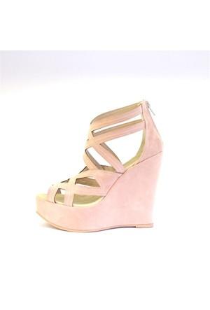 Shop And Shoes 173-17160 Kadın Ayakkabı Pudra Süet