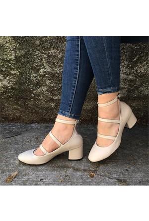 Shop And Shoes 173-8510103 Kadın Ayakkabı Ten