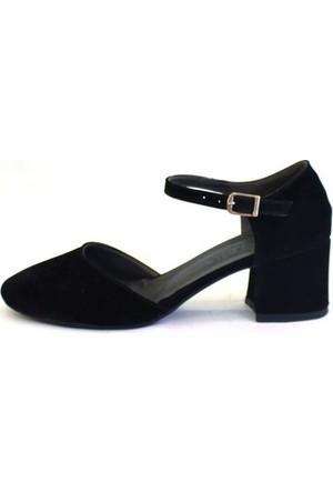 Shop And Shoes 173-8510131 Kadın Ayakkabı Siyah Süet