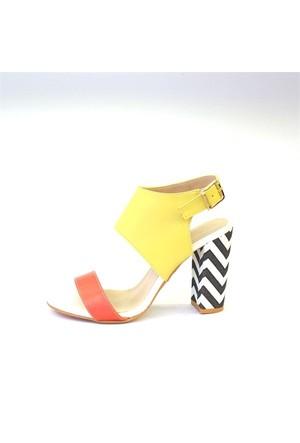 Shop And Shoes 173-955 Kadın Ayakkabı Turuncu Sarı