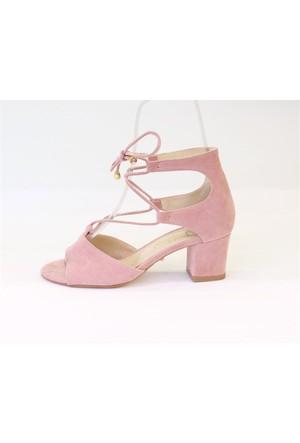 Shop And Shoes 174-328 Kadın Ayakkabı Pudra Süet