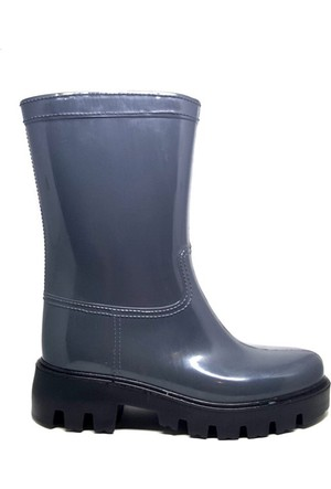 Shop And Shoes 175-504 Kadın Çizme Gri Siyah