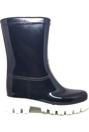 Shop And Shoes 175-504 Kadın Çizme Siyah Beyaz