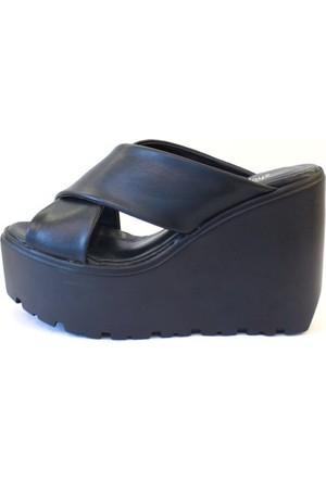Shop And Shoes 184-101-8 Kadın Terlik Siyah