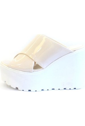Shop And Shoes 184-101-8 Kadın Terlik Bej Rugan