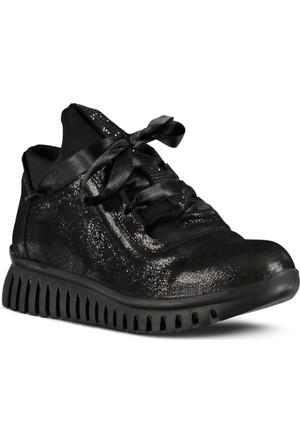 Marjin Anta Dolgu Topuk Spor Ayakkabı Siyah