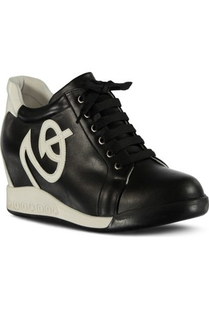 Marjin Mega Dolgu Topuk Spor Ayakkabı Siyah