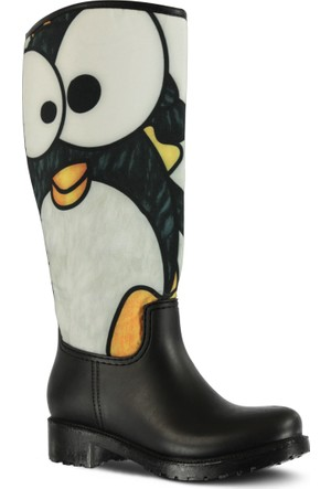 Marjin Pingu Yağmur Çizmesi Siyah