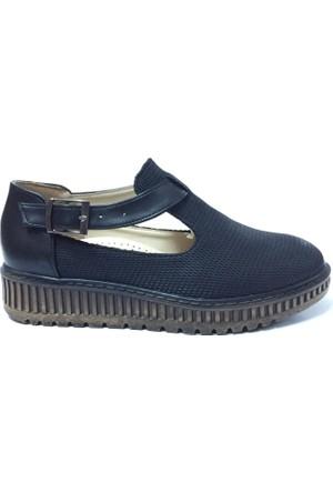 Faris Minus Kadın Ayakkabı Siyah Petek Desenli