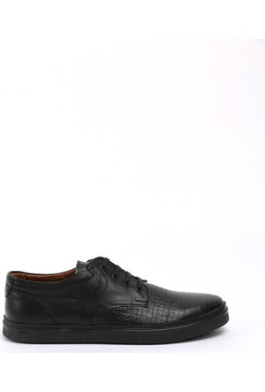 19V69 Italia Erkek Hakiki Deri Ayakkabı 7Vok60365-05Bh09