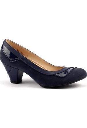 Classy 085 Günlük Topuk Bayan Cilt-Süet Ayakkabı