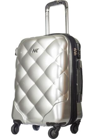 NK Polycarbonate Kabin Boy Valiz Nk025-S Gümüş