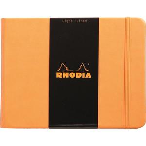 rhodia boutique sert kapak 140x110 turuncu çizgili defter rw 118038