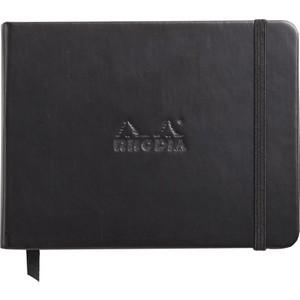 rhodia boutique sert kapak 140x110 siyah çizgili defter rw 118039