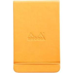 rhodia boutique sert kapak a6 turuncu çizgisiz defter rw 118328