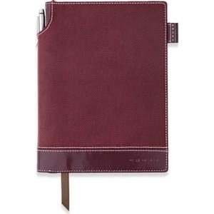 cross signature medium tekstil kapak kırmızı çizgili defter ac249-4m