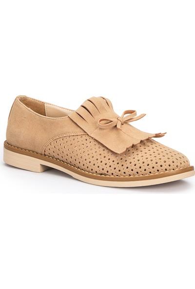 Polaris 71.309997.Z Bej Kadın Maskulen Ayakkabı
