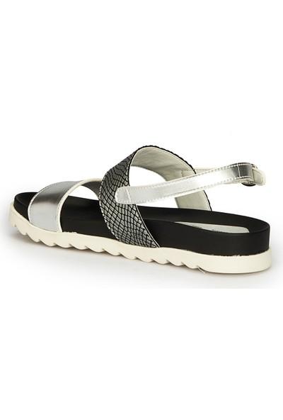 Polaris 71.310098.Z Gümüş Kadın Sandalet