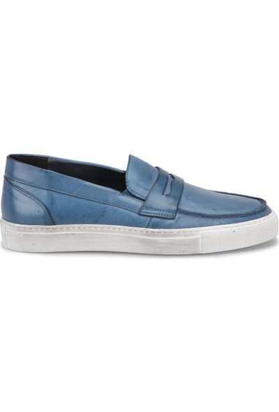 Glif 9691 M 2251 Mavi Erkek Deri Modern Ayakkabı