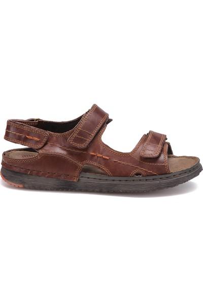 Freemood K020-904 M 4033 Kahverengi Erkek Deri Sandalet