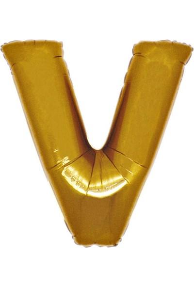 Kbkticaret V Harfi 100 Cm İthal Harf Balon