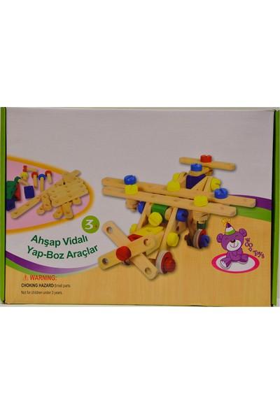 Kızılkaya 1111070 Ahşap Lego Uçak Araba