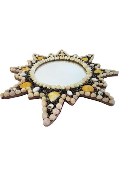 Deniz Kabuklu Güneş Ayna 40x30x1.5 cm