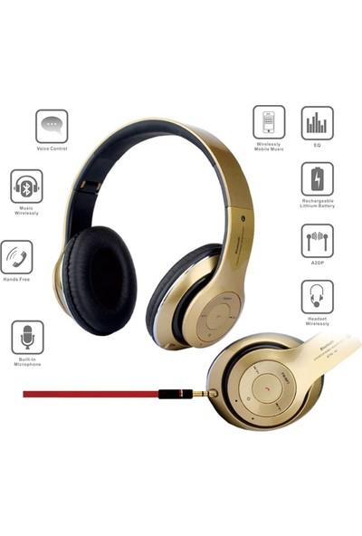 Polygold Kablosuz Kulaklık Bluetooth Bağlantılı Sd Kart Destekli Fm Radyo