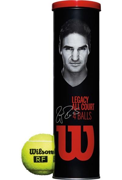 Wilson Roger Federer Legacy 4'lü Tenis Topu Metal Can ( Wrt11990M )