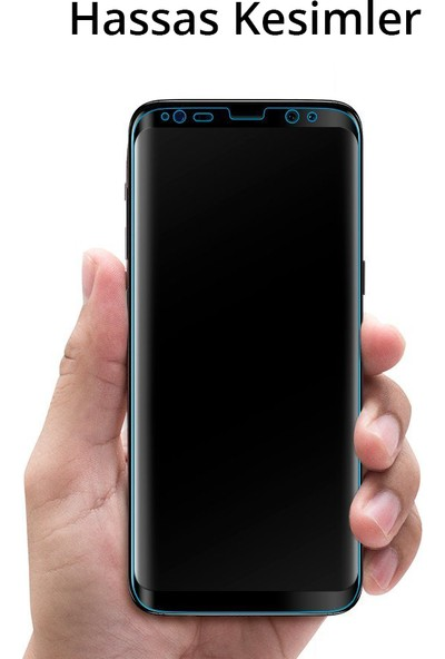 Spigen Samsung Galaxy S8 Plus Full Cover Kavisli Cam Ekran Koruyucu Tam Kaplayan - 571GL21778